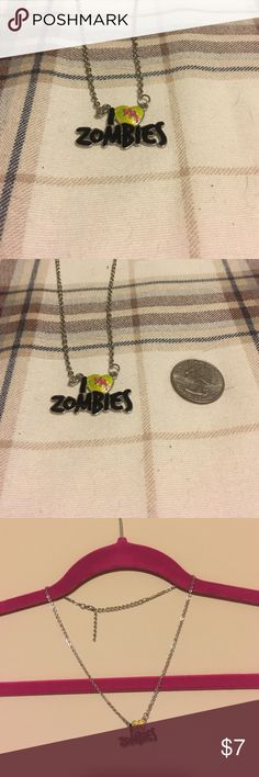 🎉FLASH SALE🎉 Zombie Necklace Fun little I 💚 Zombies necklace. Get ready for Halloween or share your love of zombies!!! Jewelry Necklaces