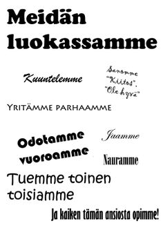 Meidän luokassamme... I Am Statements, Teaching Aids, School Classroom, Classroom Management, Special Education, Back To School, Teacher, Science, Activities