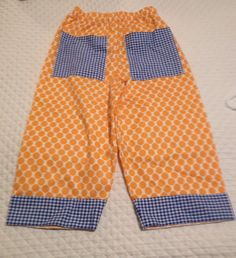 Boys pants with cuff and back pockets!!