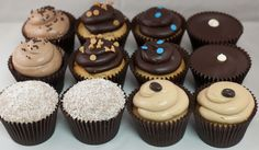 The perfect gift any time of year...    Arleen's Cupcake: Chocolate Lovers Dozen  2 Chocolate Marshmallow, 2 Sweet Chocolate with Chocolate Buttercream Icing, 2 Peanut Butter with Fudge Icing, 2 Classic Vanilla with Fudge Icing, 2 Coconut Snowball with Chocolate Buttercream Icing, 2 Mocha Truffle