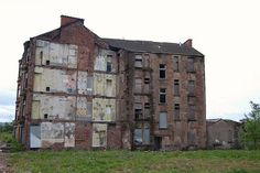 Derelict tenement in the east end of Glasgow
