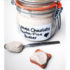 Ripped Recipes - White Chocolate Pepita Flax Butter - There are so many delicious flavoured nut butters now, I decided make my own low calorie version.