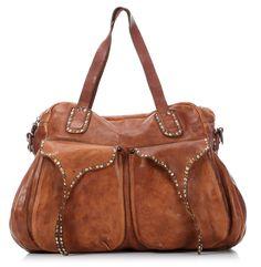 Campomaggi Lavata Handbag Leather 40 cm - C1049VL - Designer Bags Shop - wardow.com
