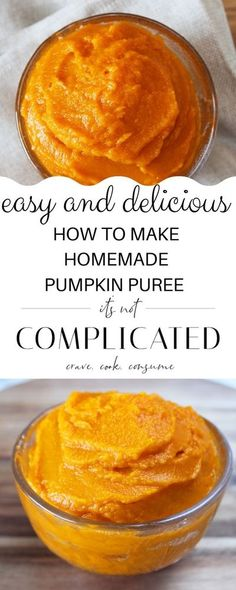 This recipe will show you with ease How To Make Pumpkin Puree. It is so easy and tastes superior. In this post, I will show you how to make the puree by either roasting or boiling the pumpkin.#pumpkinpuree #howtomakepumpkinpuree #pumpkinrecipes #cravecookconsume #itsnotcomplicatedrecipes