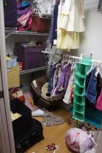 Children's closet: before