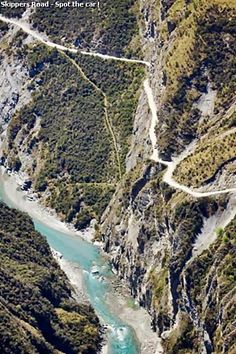Skippers Road, Queenstown; the scariest road in NZ, 6km of narrow cliff edge