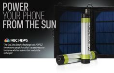 This thing is super. And at only $99, it's a steal.  Power Your Phone From the Sun