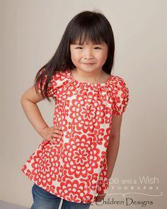 Lotus Cherry Fall Sweet Pea Dress Autumn by KKchildrendesigns