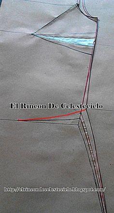El Rincon De Celestecielo: Patrón para blusa o vestido en género de punto Happy Birthday Frame, Birthday Frames, Dress Patterns, Sewing Patterns, Pattern Drafting, Princess Seam, Pattern Fashion, My Style, Corsage