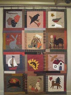Folkart Calendar Quilt