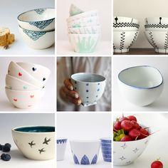diy hand painted ceramic bowls porcelain - zelf keramiek beschilderen aardewerk kommetjes met de hand1