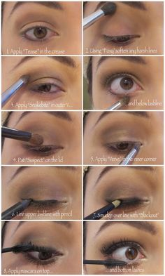 Step by step eye makeup tutorial using UD Naked2 Palette