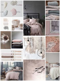 Moodboard inspo #interiordesign #interieur Bedroom Color Schemes, Bedroom Colors, Room Decor Bedroom, Dusty Pink Bedroom, Mood Board Interior, Interior Design Tips, Moodboard Interior Design, Indian Home Interior, Cute Home Decor