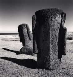 Easter island ~ Nocturne, Alien Artifacts, Moving To San Francisco, Irish Catholic, Black And White Landscape, Easter Island, Art Direction, Photo Art, Sculptures
