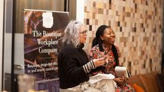 Kate Watson-Smyth and Busola Evans at the Interior Trends 2018 talk at The Boutique Workplace Company #rockettstgeorge #interior #interiors #trends #talk #london #company #trend #home #homeware #house #inspiration