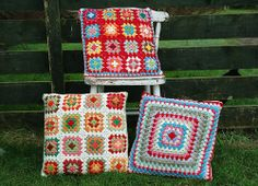 Crochet Cushions  by AnnieDesign, via Flickr