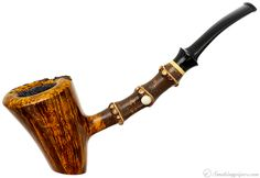 Ping Zhan Smooth Cherrywood with Bamboo Pipes at Smoking Pipes .com Tobacco Smoking, Tobacco Pipes, Smoking Pipes, Body Craft, Briar Pipe, Pipes And Cigars, Electronic Cigarette, Hand Carved, Globe