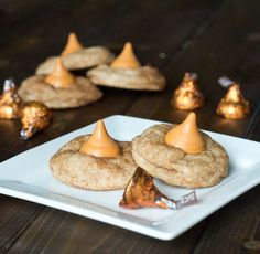 Snickerdoodle Pumpkin Kiss Cookies- Super Yummy!  The perfect little bite of cookie.