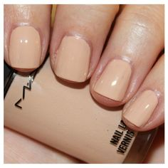MAC Nail Varnish in Muscle Tone, NWOB Polishes for Swap or Sale ❤ liked on Polyvore featuring beauty products, nail care, nail polish, shiny nail polish and glossy nail polish