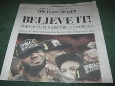 cavs Cleveland Cavaliers win championship Plain Dealer ohio newspaper 6-20-16