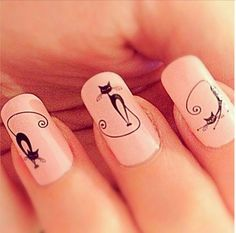 Top 32 Chic Black Cat Manicure Nails To Try Pretty And Modern Black Cat Nail Art Designs Ideas Cat appearance lovely and cute. sometimes folks like to have cats as their pets, i personally own a stunning cat and she or he is de facto keen on Nail Art Designs, Manicure Nail Designs, Nail Manicure, Nail Polish, Triangle Nail Art, Geometric Nail Art, Cat Nail Art, Cat Nails, Coffin Nails