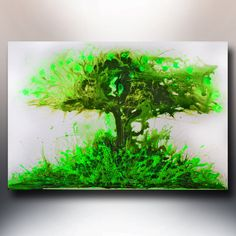 """ORIGINAL ABSTRACT CONTEMPORARY Painting  Tree of Life  24""""x36"""" Acrylic on Canvas Floral fine art by L. Bronzini"""