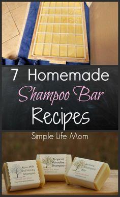 7 Homemade Shampoo Bar Recipes - cold process soap from Simple Life Mom - - 7 Homemade Shampoo Bar Recipes - cold process soap from Simple Life Mom Make DIY Shampoo at Home Shampoo Hair at Home Tips DIY Tutorial Dark Highlight. Diy Savon, Homemade Soap Recipes, Lotion Bars, Diy Lotion, Homemade Beauty Products, Beauty Recipe, Cold Process Soap, Home Made Soap, Soap Making