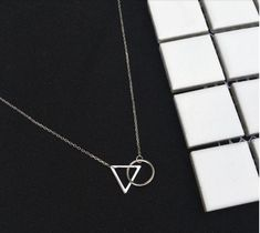 Buy Anenjery 925 Sterling Silver Choker Necklace Minimalist Clavicle Chain Female Triangle Round Pendant Resistance To Fade Sterling Silver Choker Necklace, Diamond Cross Necklaces, Diamond Solitaire Necklace, Circle Necklace, Necklace Types, Silver Pendant Necklace, Short Necklace, Diamond Jewelry, Chain Necklaces