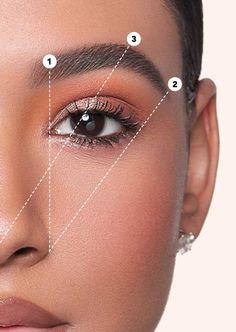Eyebrow Makeup Tips, Permanent Makeup Eyebrows, Eye Makeup Art, Beauty Makeup, Eye Brows, Eyebrow Styles, Eyebrow Design, Perfect Eyebrow Shape, Perfect Brows