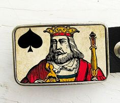 King of Spades, Playing Card Belt Buckle