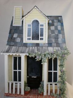 Miniature Farm Paper House Cottage by cinderellamoments on Etsy