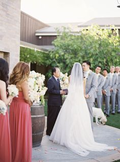Peach Inspired Farm Wedding at Carneros Inn  Read more - http://www.stylemepretty.com/2014/03/10/peach-inspired-farm-wedding-at-carneros-inn/