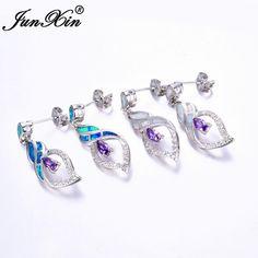 Wholesale Elegant 925 Sterling Silver Filled Lovely Heart Dangle Earrings Party