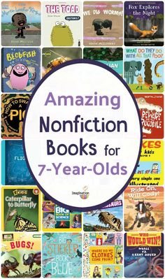 Keep your 7 year olds graders) reading nonfiction at the appropriate reading level with this list of excellent titles. Books For Second Graders, 1st Grade Books, Grade 2, Books For Boys, Childrens Books, Best Non Fiction Books, Nonfiction Books For Kids, Sports Illustrated Kids, Good Books