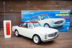 Mercedes Benz 230SL Radicon Remote Control Car MASUDAYA Japan Tin Toy 962 #MASUDAYA
