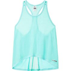 Victoria's Secret Mesh-Back Swing Tank (52 CAD) ❤ liked on Polyvore featuring activewear, activewear tops, victoria secret sportswear, victoria secret activewear and victoria's secret