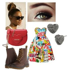 """""""Cartoon World"""" by maya7277 on Polyvore featuring Dr. Martens, Betsey Johnson, Moschino and Love Moschino"""