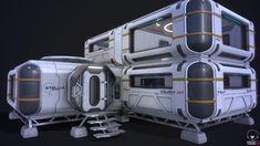 Modular sci-fi habitat by Orest TerremotoPart of personal project Spaceship Interior, Futuristic Interior, Futuristic Architecture, Star Citizen, Space Engineers, Concept Ships, Futuristic Technology, Environment Concept Art, Sci Fi Fantasy