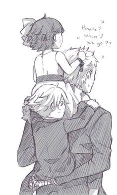 Boruto, Himawari and Naruto