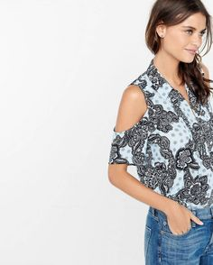 Unlike its off-the-shoulder counterpart, cold shoulder shirts have on-the-clock approval built right in.