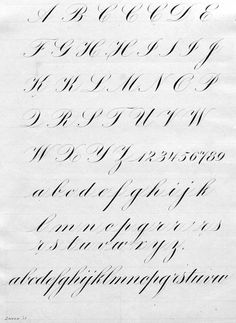 I liked this alphabet because of how hairline the upstrokes are. I also liked seeing how the letters looked of the grid paper. Copperplate Calligraphy, How To Write Calligraphy, Calligraphy Handwriting, Calligraphy Letters, Penmanship, Caligrafia Copperplate, Caligraphy Alphabet, Letras Tattoo, Calligraphy Tutorial
