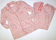 Victorias Secret S Long Flannel Bunny Rabbit Pink Pajamas PJ Set Lounge Small  #VictoriasSecret #PajamaSets