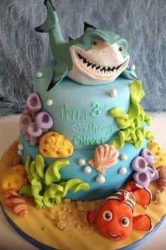 Nemo Cake LOVE THIS!! bc of the shark haha