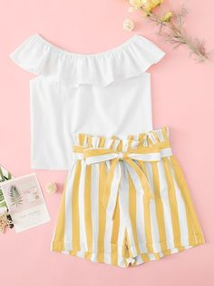 Available for ages BD 10 only. DM to order. Girls Fashion Clothes, Summer Fashion Outfits, Spring Outfits, Girl Fashion, Fashion Looks, Cute Girl Outfits, Cute Casual Outfits, Pretty Outfits, Blouse Models