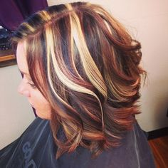 Highlights and low lights became into style after the chunky light blonde highlights to add color #highlights #lowlights