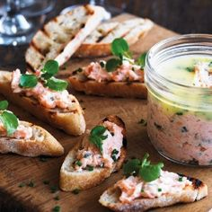 Smoked Salmon and Lemon Pate with Parsley Butter