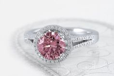 A pink diamond engagement ring!