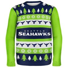 fcebc4fd2 Even sports fans can get in on the Ugly Sweater trend! This NFL Seattle  Seahawks  Ugly Sweater  meets the criteria.