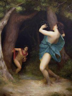 Lasarasu on deviantART - Apollo and Daphne. Tags: apollo, apollon, daphne, dafne, transformations, metamorphoses, naiads,