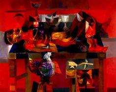 Alejandro Obregon was a Spanish born Colombian painter. Biography and paintings include, naturaleza muerta con cuchillo estudiantes muertos condor doves agua calida Condor Atardacer Rape of Europe. Colombian Art, Geometric Symbols, Hispanic American, American Artists, Cool Artwork, Amazing Art, Oil On Canvas, Graphic Art, My Arts